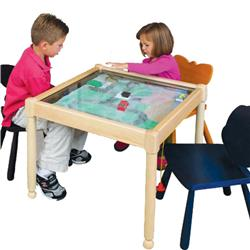 Gressco Standard Magnetic Vehicle Sand Tables with Natural Finish