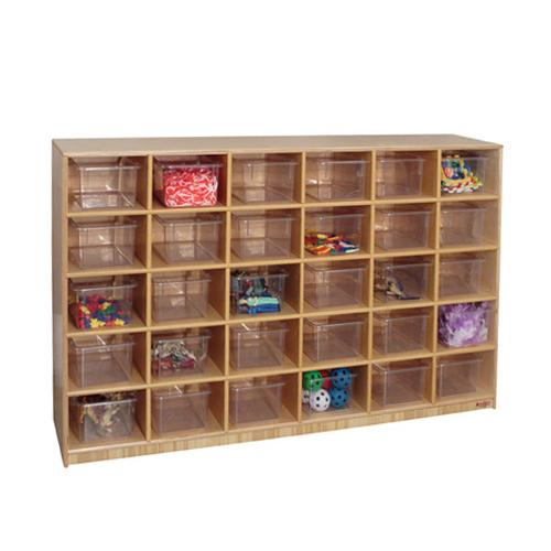 Wood Designs™ 30-Cubby Storage Cabinets. Zoom  sc 1 st  Brodart & Wood Designs™ 30-Cubby Storage Cabinets