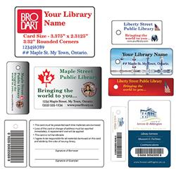 Laminated Teslin Bar-Coded ID Card/Key Tag Combos