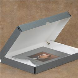 Tyvek® Laminated Tan Drop-Spine Clamshell Box