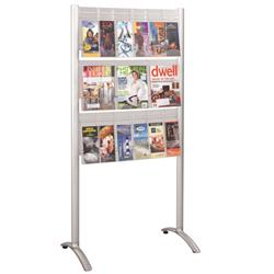 Safco Products Luxe™ Nine Pocket Standing Literature Displayer