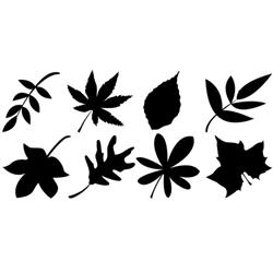 Leaves Vinyl Wall Art on visual storage cabinets