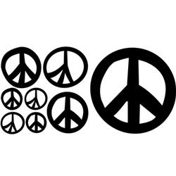 Brodart Peace Signs Vinyl Wall Art