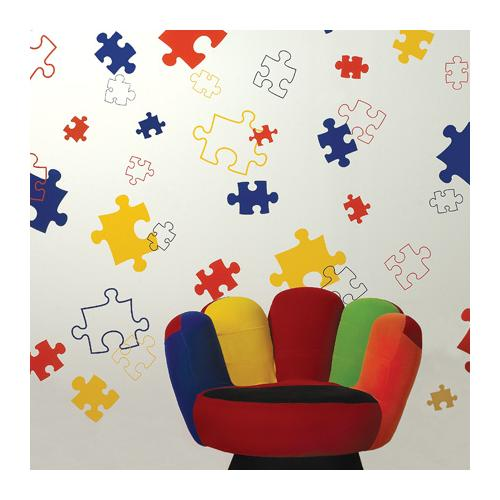Brodart Puzzle Pieces Vinyl Wall Art