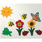Image of Loveable Creations® Soft Fabric Wall Decorations - Garden Theme