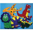 Image of Loveable Creations® Soft Fabric Wall Decorations - Dinosaur Theme