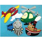 Image of Loveable Creations® Soft Fabric Wall Decorations - Transportation Theme