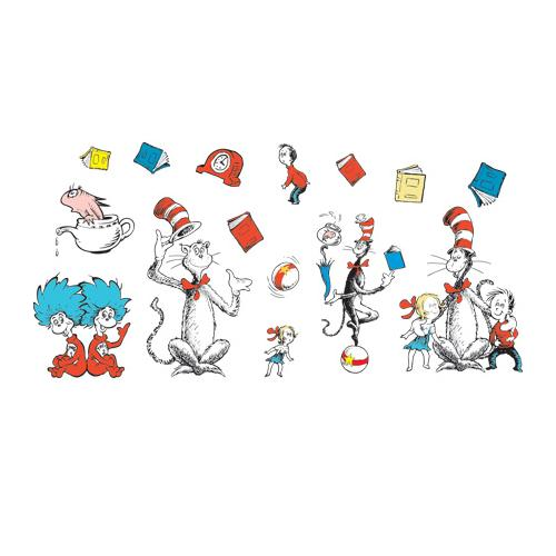 Cat In The Hat Characters: Eureka® The Cat In The Hat™ Characters Bulletin Board Set