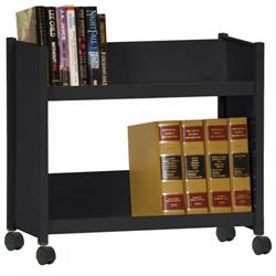 Sandusky Lee® Welded Single-Sided Book Truck with Two Sloping Shelves