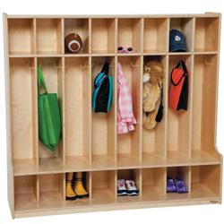 Wood Designs™ Eight-Section Seat Lockers