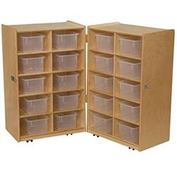 Wood Designs™ Mobile Folding Vertical Storage Units