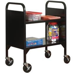 Sandusky Lee® Two Shelf Book Truck