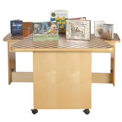 Brodart Mobile Maple FanFold Display Table