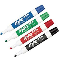 Expo Bullet Tip Dry Erase Low-Odor Markers