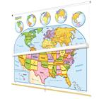 Image of Nystrom Early Learner United States/World Map Combo