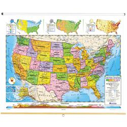 Nystrom Political Relief United States Map - Map of us political