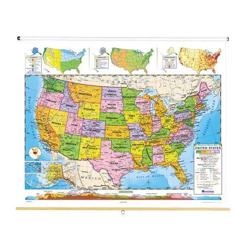 Nystrom World Map.Nystrom Political Relief United States Map
