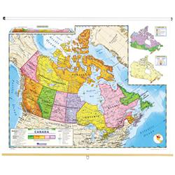 Detailed Map Of Canada.Nystrom Political Relief Map Of Canada