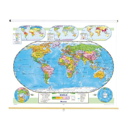 Nystrom political relief world map nystrom political relief world map zoom gumiabroncs Choice Image