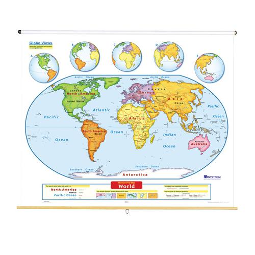 Nystrom World Map.Nystrom Early Learner World Map
