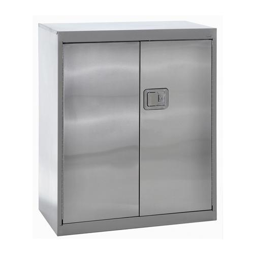 Stainless Steel Tall Kitchen Cabinet: Sandusky Lee® Stainless Steel Counter-Height Cabinet With