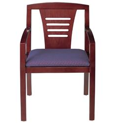 HPFI Contempo Cherry Ladder-Back Guest Chair