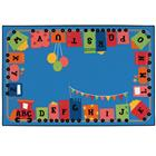Image of Carpets for Kids® Alpha Fun Train Value Rug
