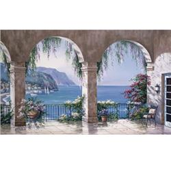 Environmental Graphics Mediterranean Arches Wall Mural
