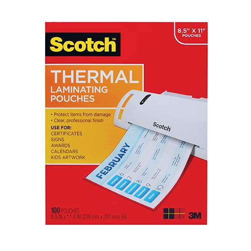 "Scotch® Thermal Laminating Pouches 8 9/10"" x 11 2/5"""