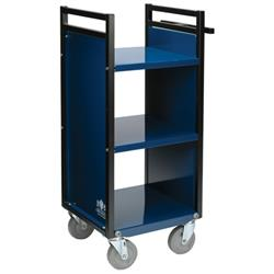 Gryphon Mini Book Trucks with Three Flat Shelves and Sure Track System