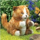 Image of Folkmanis® Orange Tabby Kitten Puppet