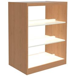 Brodart Reprise Laminate Double-Faced Bookstop Metal Shelving Starters