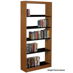 Classic Omega Maple & Steel Double-Faced Book Stop Shelving
