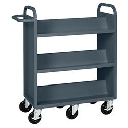 Sandusky Lee® Endurance Double-Sided Welded Steel Book Truck