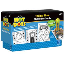 Hot Dots Telling Time Flash Cards (For Ages 6-8)