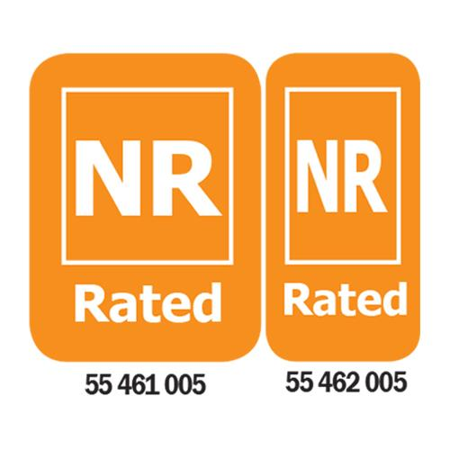 NR-Rated Media Rating Labels