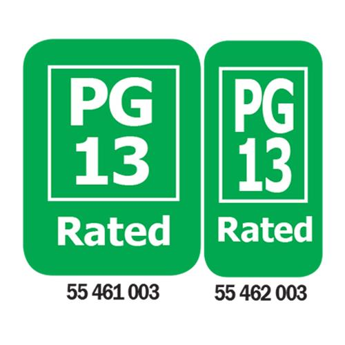 PG-13 Rated Media Rating Labels