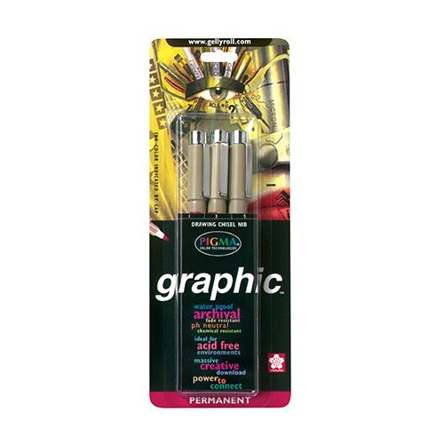 Micron Graphic Pens 3 Pack