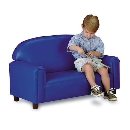 Brand New World Vinyl Upholstered Preschool Sofa