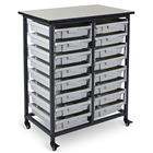 Image of Luxor Mobile Double Row Bin Storage System, 16 Small Bins
