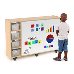 Whitney Bros. Magnetic Markerboard Mobile Storage Cabinet