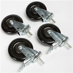 "Smith System 5"" Single-Wheel Replacement Book Truck Casters"