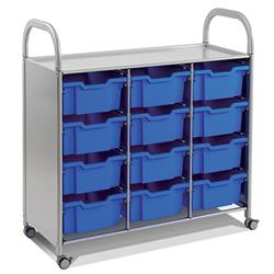 Gratnells Callero Storage Cart with Deep Trays (12)
