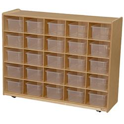 Wood Designs™ Mobile 25-Cubby Storage Cabinets