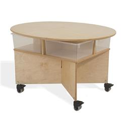 Whitney Bros. Mobile Collaboration Table with Trays