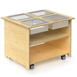 Whitney Bros. Mobile Sensory Table with Trays and Lids
