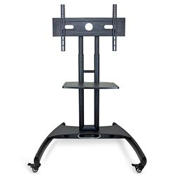 Luxor Height-Adjustable TV Stand with Shelf