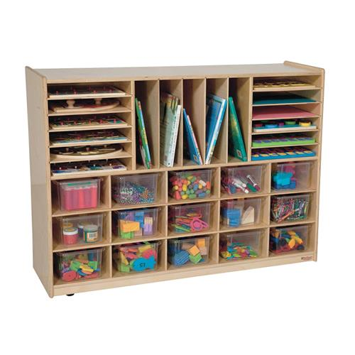Wood Designs Multi-Storage Mobile Cubby