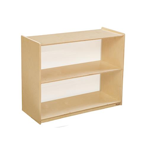 Wood Designs Bookshelves with Acrylic Backs