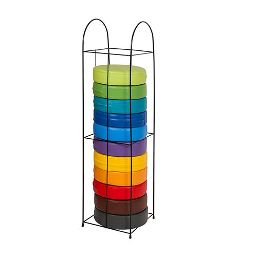 Novum by Gressco Rainbow Round Reading Seat Cushions with Rack